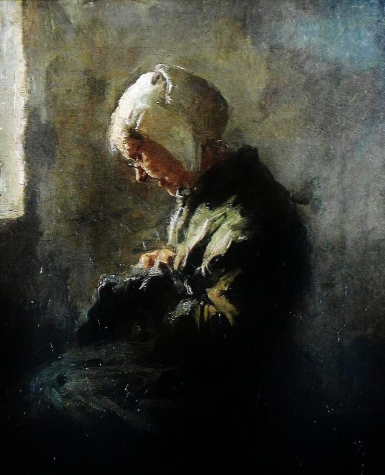 Larock_Evert-Knitting_old_woman